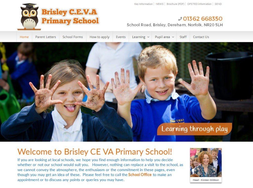Brisley CEVA School Website, Norfolk