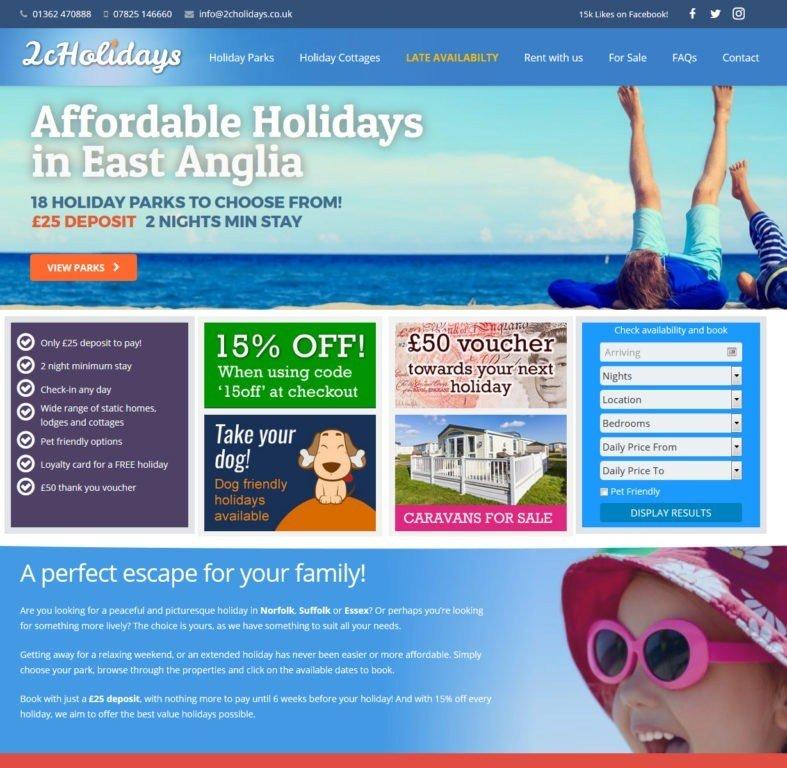 2cHolidays Web Design