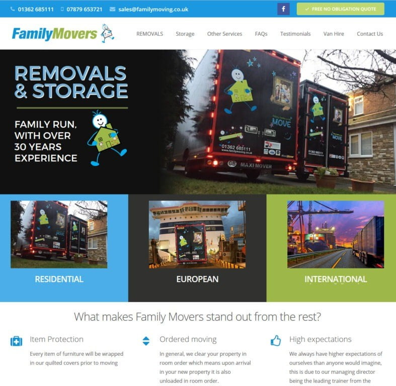 Family Movers removals company in Dereham