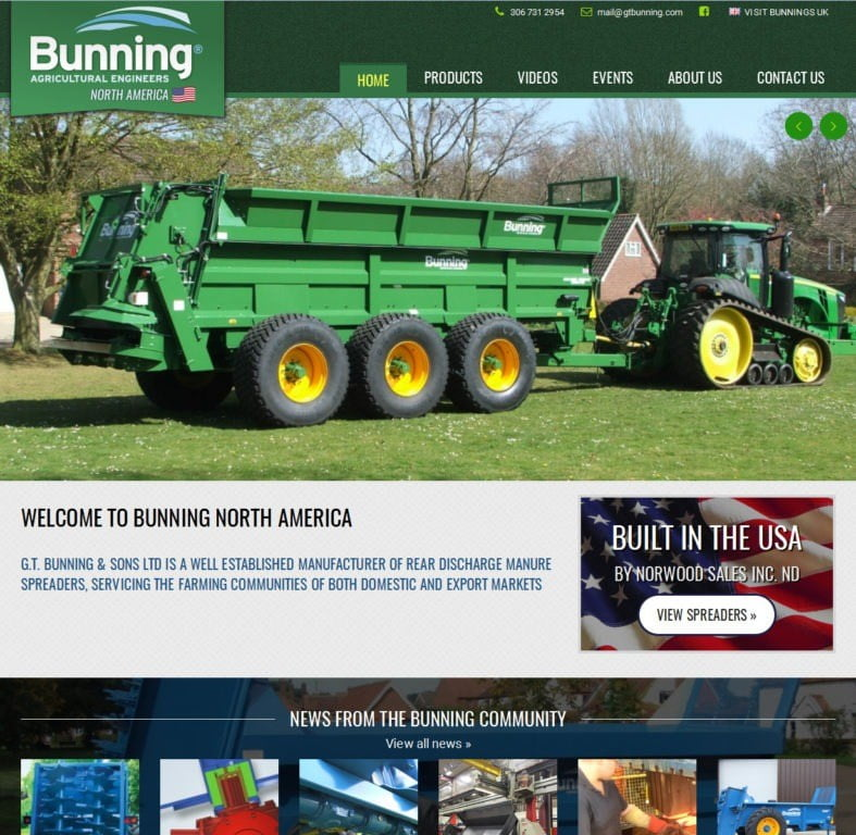 Bunning Web Design from Marcus Fletcher