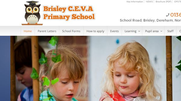 Brisley CEVA School Website, Norfolk
