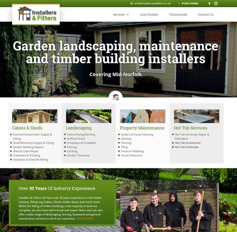 Installers & Fitters website - Norfolk