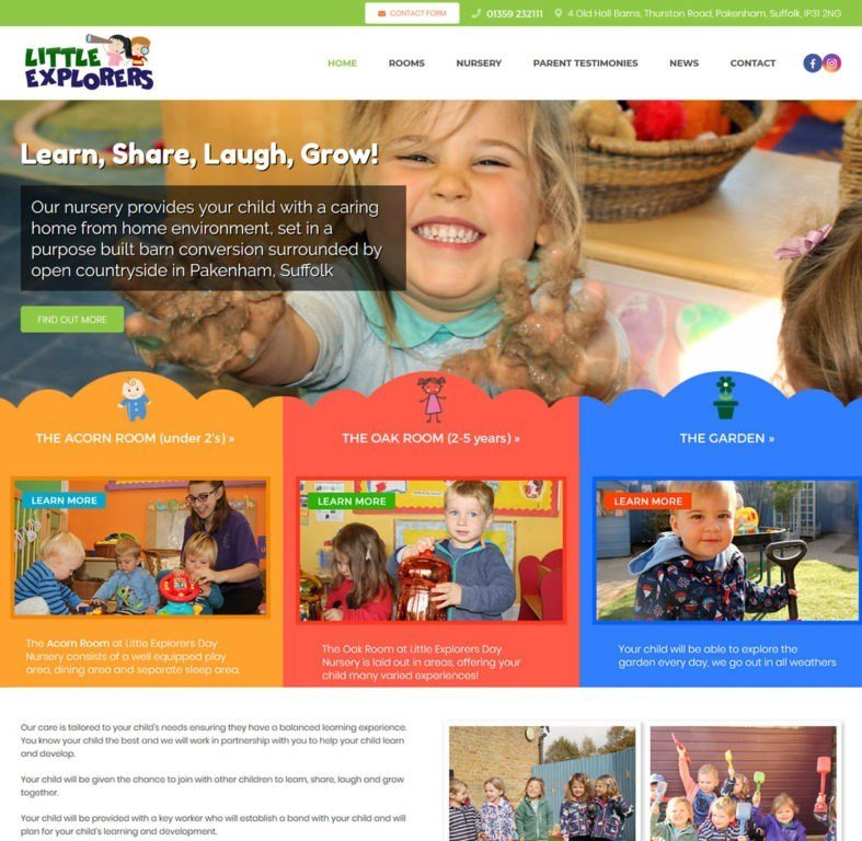 Website designed and optimised for Little Explorers in Pakenham