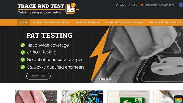 Track and test website design