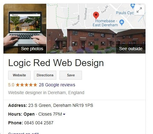 Logic Red Google MyBusiness entry