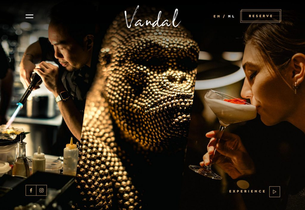 Vandal food website design