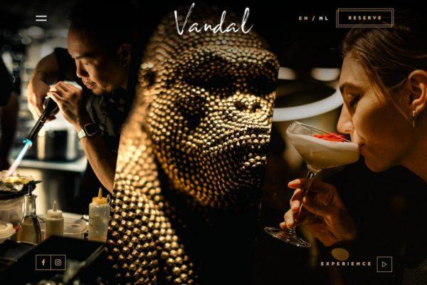 Vandal food website design